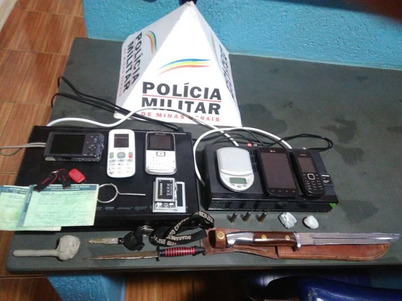 Polícia Militar prende assaltantes poucos instantes após o crime na cidade de Guaranésia